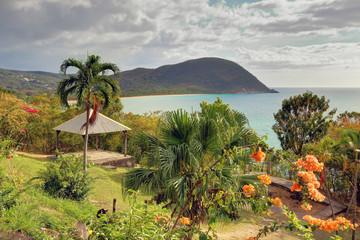 Guadeloupe Deshaies vue sur la plage de la Grande Anse
