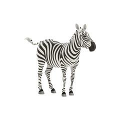 Zebra wild animal vector isolated icon. African safari zoo and savanna hunt trophy zebra