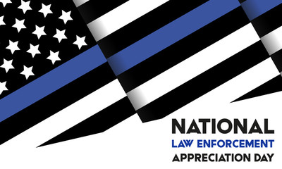 Foto auf AluDibond Individuell NATIONAL LAW ENFORCEMENT APPRECIATION DAY (L.E.A.D.). January 9. Poster, card, banner, background, T-shirt design.