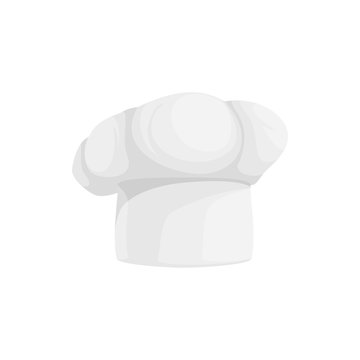 Chef hat isolated cooks cap. Vector white toque blanche, cookers original headwear