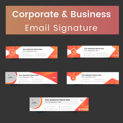 Corporate And Business Email Signature Template Design