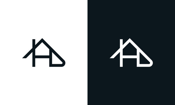 Modern line art Letter HD House logo. This logo icon incorporate with letter H, D and house icon in the creative way.
