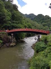 Papiers peints Pont Paisaje puente sobre río Japón