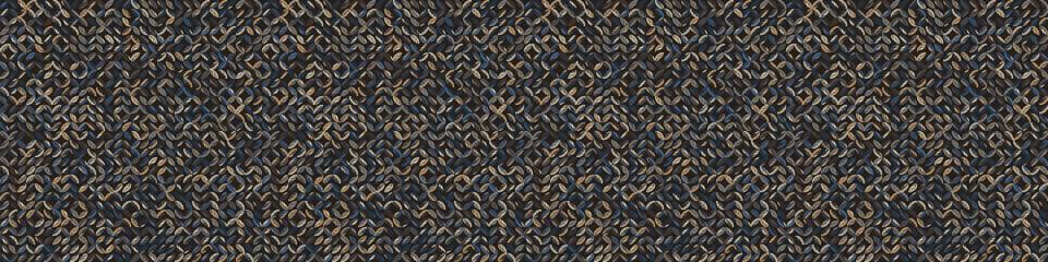 Poster Pattern Dark pebble mosaic effect vectorbanner texture. Masculine geometric seamless border melange pattern. Hand drawn variegated irregular shapes background. Textured classic brown hipster ribbon trim.