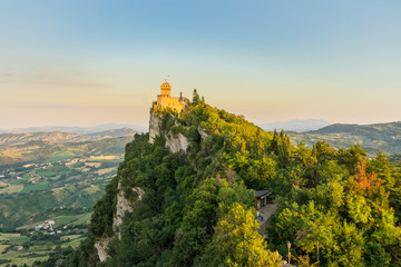 View of the second tower of San Marino Wall mural