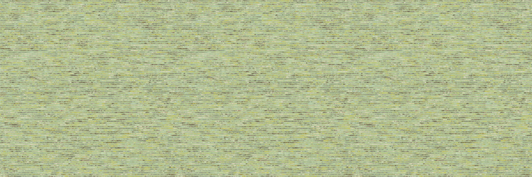 Green sage marl vector seamless border pattern. Heathered soft heathered effect. Spring space dyed banner texture. Fabric textile grass background. Melange t shirt ribbon trim edge