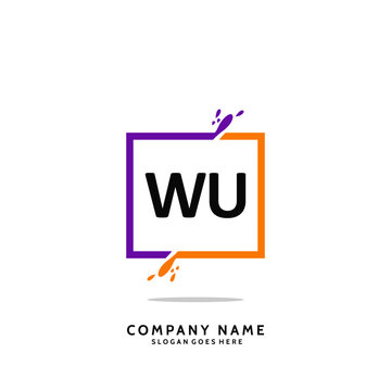 WU Initial Logo Template Vector
