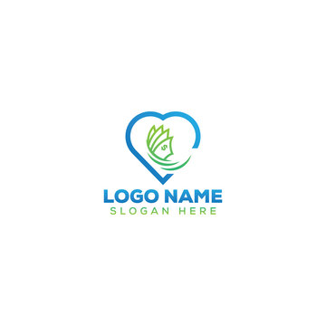 Dollar/cash lover logo design template full vector