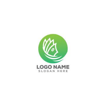 cash/dollar logo design template full vector