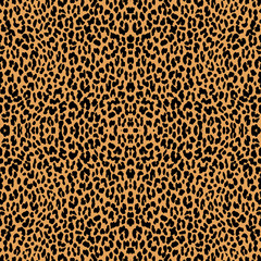 Foto op Aluminium Luipaard Seamless animal print with jaguar spots.