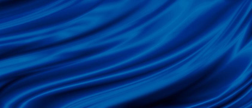 Blue luxury fabric background with copy space