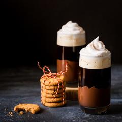 Layered Coffee Drink