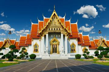 Printed kitchen splashbacks Place of worship buddhist marble temple Wat Benchama Bophit in Bangkok -Thailand