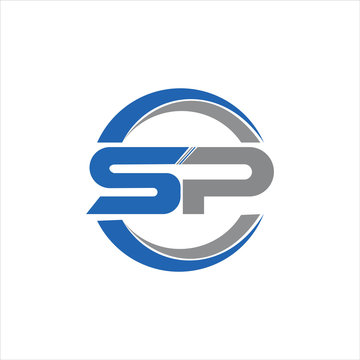 initial letter sp or ps logo vector designs