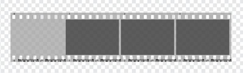 Four photo camera blank frames. Camera roll