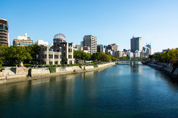 Wall Murals Australia Hiroshima Japan, Atomic Bomb Dome that survived the atomic bomb in the city of Hiroshima