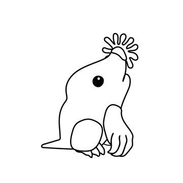 vector line cartoon animal clip art