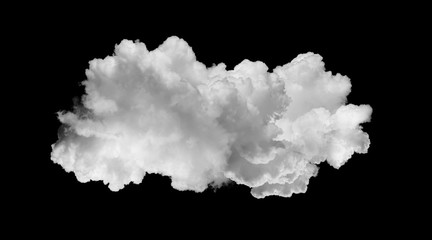 white clouds isolated on black Papier Peint