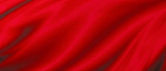 Acrylic Prints Fabric Red luxury fabric background with copy space