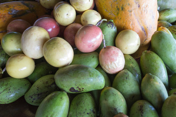 Tropical fruits picture