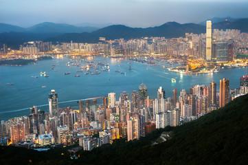 Fototapeta The Hong Kong cityscape seen from High West
