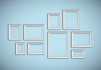 Picture frame idea, inspiration on transparent background. Easy way to put picture into frame and easy proportions customization - high detailed vector with shadows