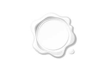 vector white wax seal stamp clipart
