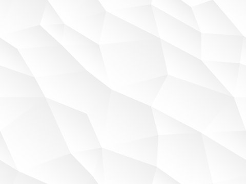 Abstract seamless vector background. White and gray repeatable texture. Polygon endless creative pattern