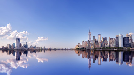 Wall Mural - panoramic view at the skyline of new  york