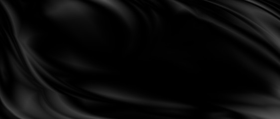 Aluminium Prints Fabric Black luxury fabric background with copy space