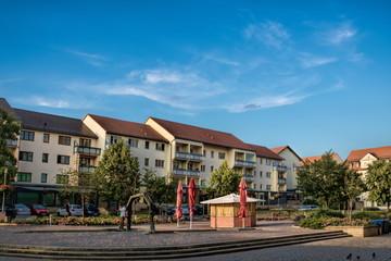 Fotomurales - merseburg, deutschland - marktplatz am abend