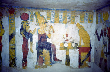 ancient Egyptian paintings from the time of the Pharaohs