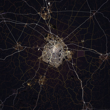 Map Lexington city. Kentucky