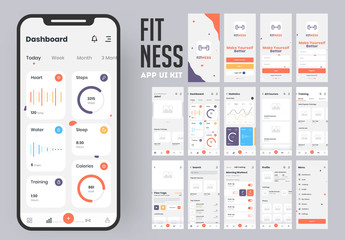 Mobile Health App Ui and Ux Screen Layouts
