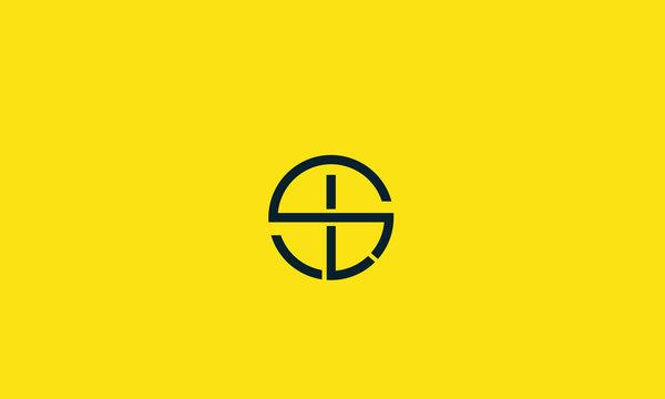 Alphabet letter icon logo SL or LS
