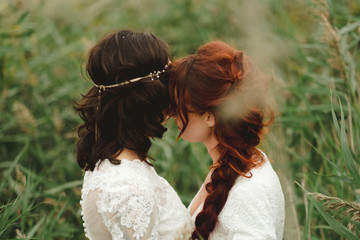 Brides together