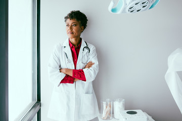 Portrait of doctor in medical office