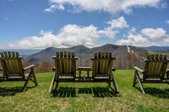 Empty Chairs Overlook Smoky Mountains