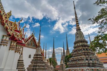 Foto auf Leinwand Kultstatte Temple Wat Pho bangkok, tailande