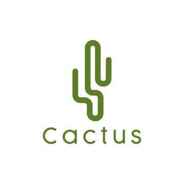 Cactus logo design badges vector Illustrations