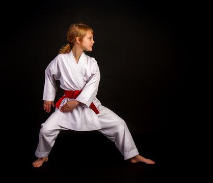 kata karate girl