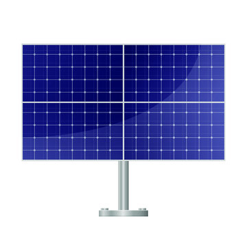 Solar panel vector design illustration isolated on white background
