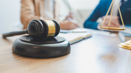 lawyer lawsuit notary consultation or discussing negotiation legal case with document contract women entrepreneurs in the office