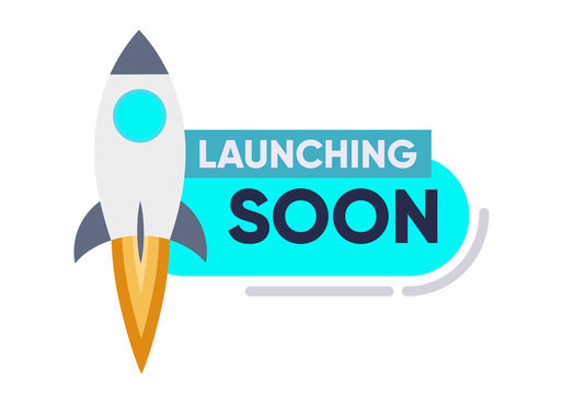 Launching Soon Page Design App Interface for Smart Phones. Illustration