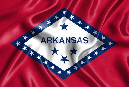 Flag of Arkansas silk