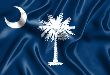 Flag of South Carolina silk Wall mural