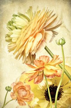 Flower arrangement, yellow