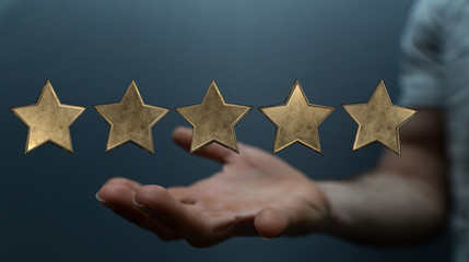 stars rating digital background five