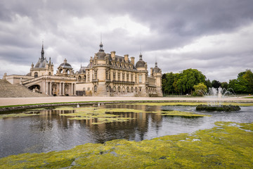 Fotobehang Chantilly castle in France Europe