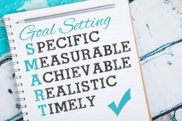 Smart Goals on light blue